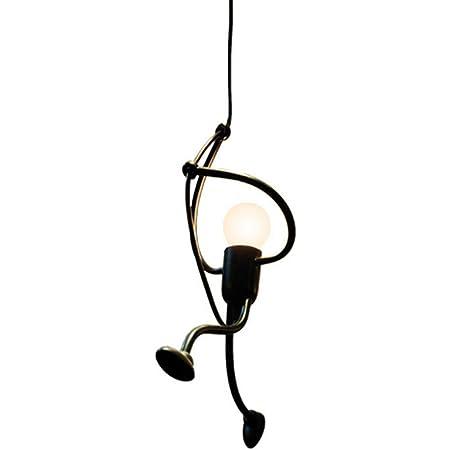 DAXGD Lampada a sospensione Ferro, Plafoniere Vintage per i bambini Camera da letto dei bambini, E27, lampadina non inclusa Altezza: 42cm