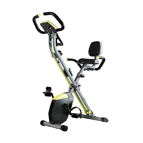 WJFXJQ Indoor Cyclette, Bicicletta Spin Bike Cardio con Regolabili Bande di Resistenza del Braccio e LCD Monitor, Back-To-Back Design, Indoor Bike