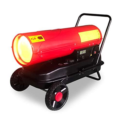 Even Industriële diesel garageplaatverwarming op wielen, gedwongen luchtverwarmer met thermostaat