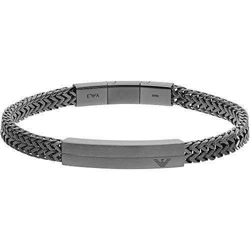 Emporio Armani EGS2684060 Herren Armband Edelstahl Silber 20,5 cm