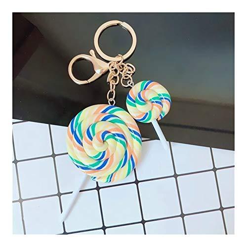 Portachiavi Creativa Lollipop cibo Keychains Carino catena realistica del lecca lecca Car Key ragazza regali pendente del sacchetto Portachiavi studenti amanti della vacanza Accessori ( Color : B3 )
