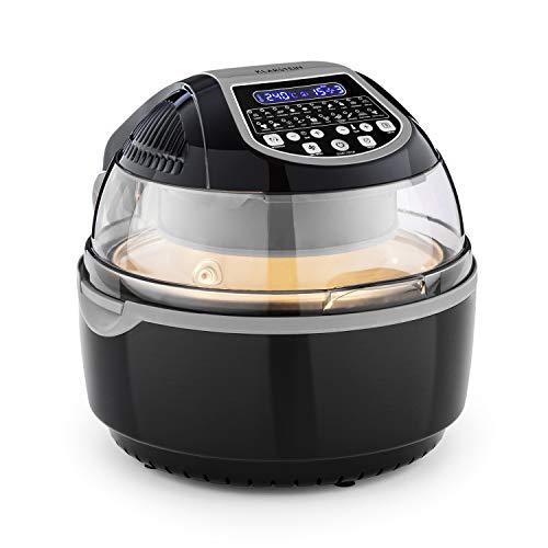 Klarstein VitAir Turbo Smart heteluchtfriteuse - heteluchtoven, hetelucht friteuse, 1400 watt, 10 L, 20 programma's, 50-230 ° C, gelijkmatige warmteverdeling, LCD-display, timer, accessoires, zwart