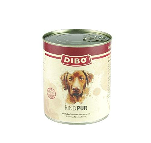 DIBO – PUR RIND, 800g-Dose, reine Fleischdosen aus frischem und natürlichem Fleisch! DIBO-Qualität