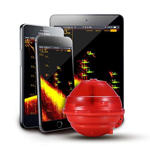 Ur HQCC Buscador De Los Pescados WiFi, Transductor del Sensor del Sonar con Pantalla LCD Portátil Buscador De La Profundidad para Kayak Barco De Pesca De Hielo
