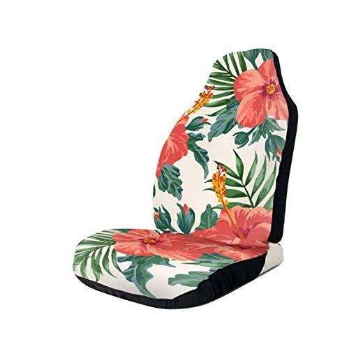 Hojas y flores Cubierta de asiento de automóvil de grunge Solo asientos delanteros Protector de asiento de cubo completo Cojines de asiento de automóvil para automóvil SUV Truck-R8