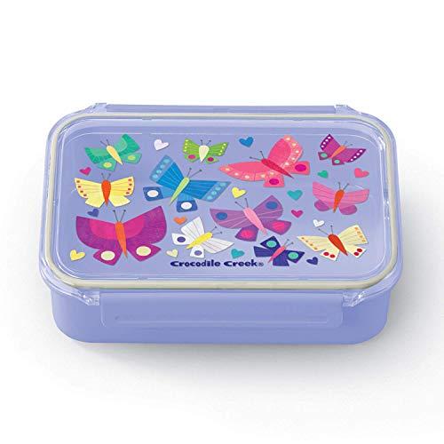 CROCODILE CREEK CC-3865410 - Fiambrera de doble compartimento Bento Box de las mariposas