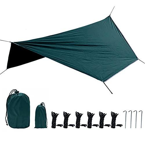 SZTUCCE Canopy Multifuncional Sombrilla Hexagonal Hexagonal Outdoor Tablero A Prueba de Lluvia Camping Playa Tienda (Color : Green)