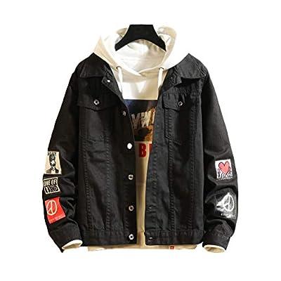 Men's Denim Distressed Jacket Casual Trucker Jean Coat
