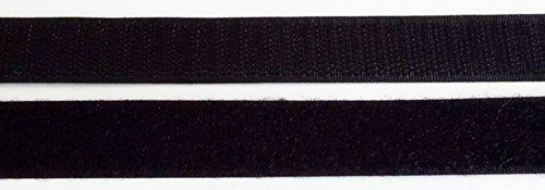 2 m Klettband Haken- und Flauschband 50 mm schwarz zum Nähen
