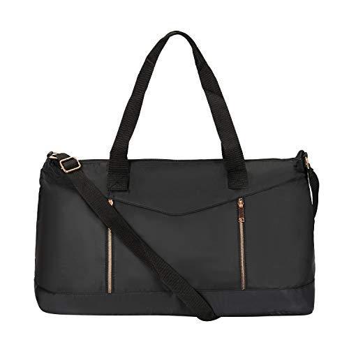 Price comparison product image Dolce Vita Women's Nylon Gym Overnight Travel Carry-On Medium Duffel Bag Black
