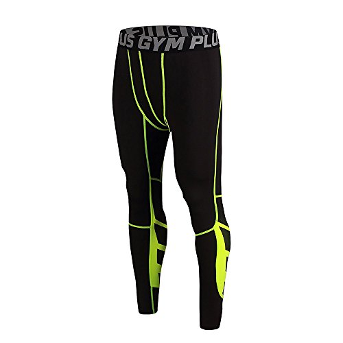 FELiCON Gym Mens Running Sports Cycle Pants Collant compressivi da Uomo Indossano Abiti da Allenamento Quick Dry Traspiranti Comodi Leggings Base Elite fit-102,XL