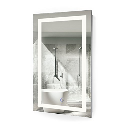 Krugg LED Bathroom Mirror 18 Inch X 30 Inch | Lighted Vanity -