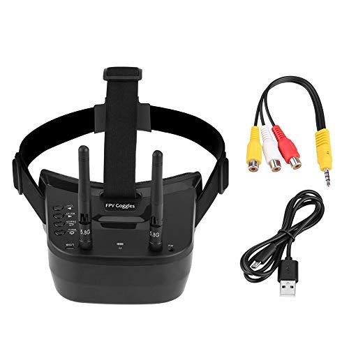 Gafas FPV 480P, pantalla de 3 pulgadas 480 * 320 Pantalla 5.8G 40 canales Mini FPV Goggls Batería incorporada 3.7V 1200mAh