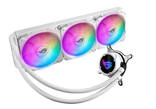 ASUS ROG Strix LC 360 RGB White Edition, Cooler CPU All-in-One ROG, avec éclairage Addressable RGB, Aura Sync, revêtement Pompe NCVM et Ventilateur du radiateur ROG 120 mm