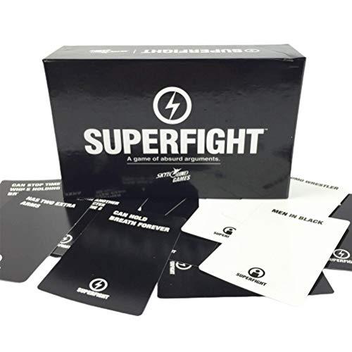 Ububiko Superfight, Kartenspiel, Cocktailspiele, Brettspielkartenspiele Einfach zu spielendes lustiges Spiel für Familienfeiern
