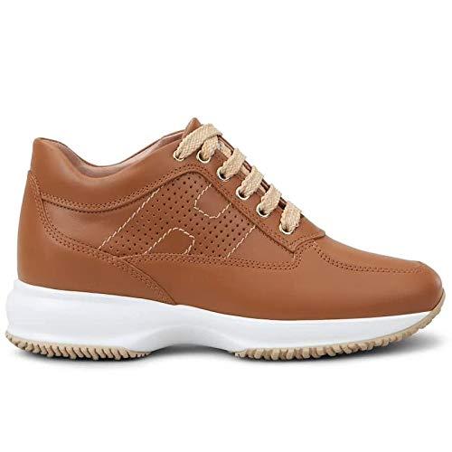 Hogan Sneaker voor dames, interactief, lichtbruin, leer, HXW00N00E30, D0WG600, maat