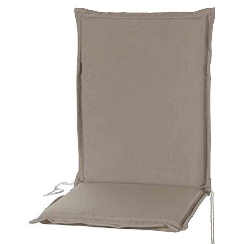 sun garden 10133313 - Cojín para sillas de Exterior (poliéster), Color Gris
