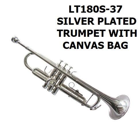 Profesional Lat/ón Estudiante BB Plano Trompeta Instrumentos de Viento Kit con Boquilla Correas Limpiar Set Bolsa Dilwe Trompeta Dorado