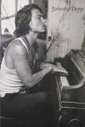 Jigsaw Puzzles 1000 Johnny Depp - Personality Poster/Print (Playing Piano)