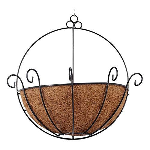 Fanville Halbrund Pflanzer Korb Wandbehang Pflanzgefäß Outdoor Kokosnuss Garten Dekor Blumentopf Eisen Kokosnuss DIY Garten hängende
