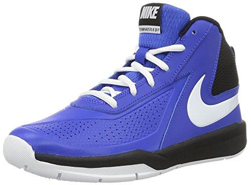 Nike Nike Unisex-Kinder Team Hustle D 7 (Gs) Basketballschuhe, blau/weiß, 36 EU