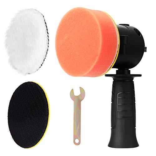 KKmoon Esponja de Pulido para Coche con los Accesorios y una Placa de Esponja Plana y una Rueda de Lana Suave