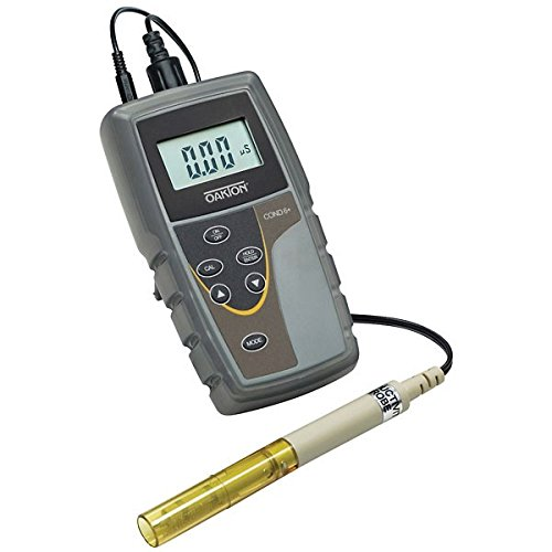 Oakton WD-35604-00 Model CON 6+ Handheld Conductivity Meter with Probe, Fluid_Ounces, Degree C, Plastic, (