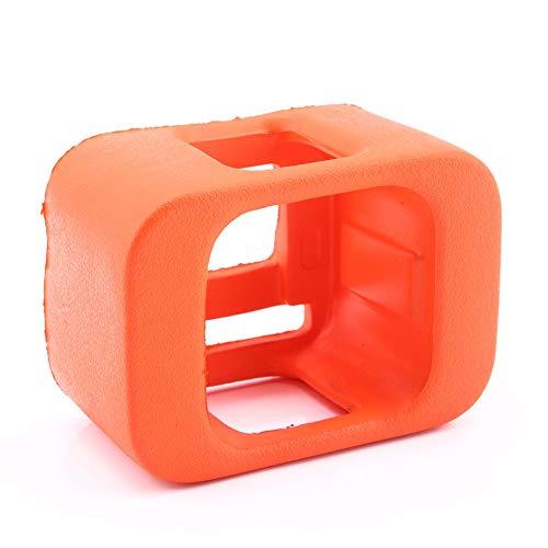 Akozon Funda Protectora de la cámara Funda Protectora de Flotador Flotante Naranja Caja de Marco de Carcasa para cámara Hero 4