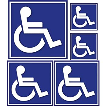 1x Femme handicapé HANDICAP ne sont pas toujours visibles Autocollant Voiture Mobilité