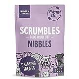 Scrumbles Nibbles, 100% Natural, Calming Dog Treats, Grain Free Turkey Training Treats, 100g pouch