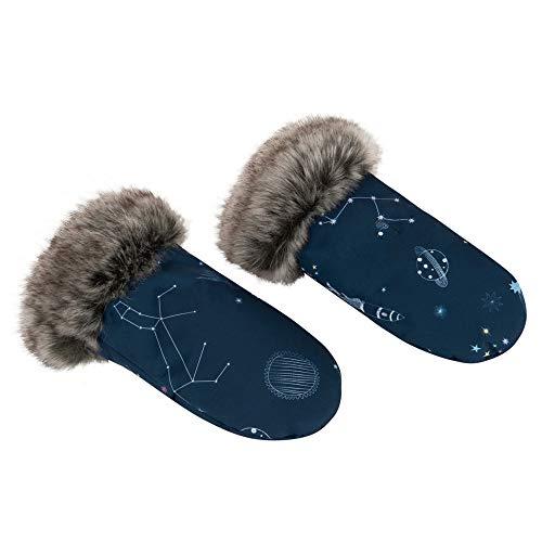 Sevira Kids - Moufles pour poussette - protège-mains chauds et imperméables - Galaxie