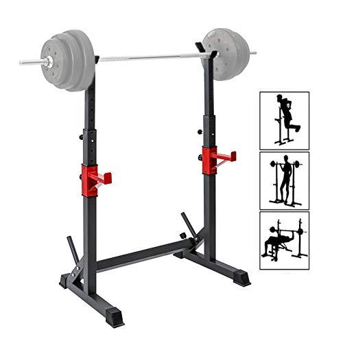 ZSCKJ Soporte para mancuernas multifuncional, barra de fitness ajustable en anchura y altura para un entrenamiento muscular eficaz, equipos profesionales de fitness en casa (300 kg)