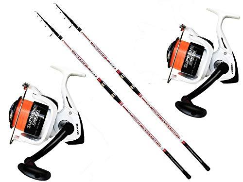 Evo fishing Stupendo Kit surfcasting Trabucco 2 pz Canna Avalon Surf 130gr + 2 pz Mulinello Supreme CX 8000 5BB