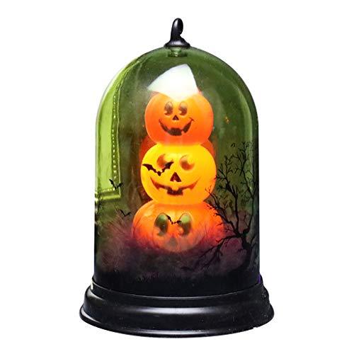 Yunnan, luce notturna a LED per Halloween, con gatto, zucca, fantasmi, scheletri, candela, lanterna infestata, decorazione per la casa