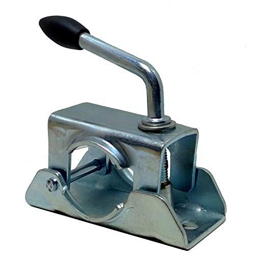 Unbekannt Anhänger Stütze Stützrad Halter, Stützradhalter Klemmhalter 48mm Abstellstütze Stahl Klemme