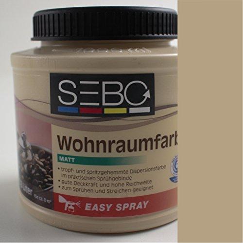 0,8l SEBOPRO Wohnraumfarbe KAFFEE CREME Innenfarbe Wandfarbe Cafe Braun