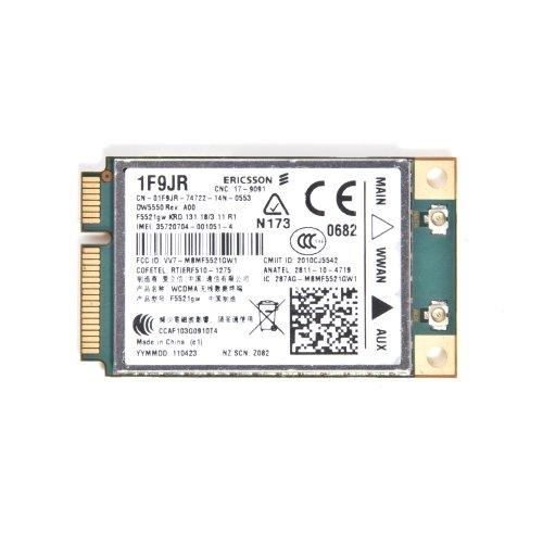Dell Latitude E6320 DW5550 3G WWAN F5521GW GPS Mobile Broadband Card 1F9JR