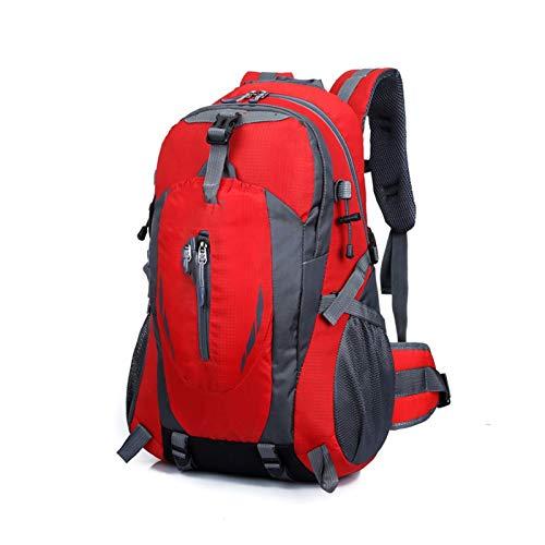 Yi-xir Mochila de diseño de moda para hombre y mujer, bolsa de deporte para viajes al aire libre, mochilas impermeables ligeras y duraderas (color: rojo, tamaño: A)