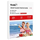 Koala Glossy Photo Paper 13X19 Inches 100 Sheets Compatible with Inkjet Printer 48lb