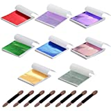 Y-Axis 8 Colors Gold Leaf Sheets Set 320 Sheets...