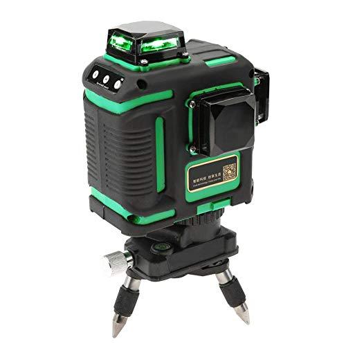 Zunate 12 Linien Laser Level,12 Lines 3D 360 Grad Laser Level Grünes Licht 12 Line Cross Line Nivellierwerkzeug,mit viel Zubehör,100 V-240 V (B)