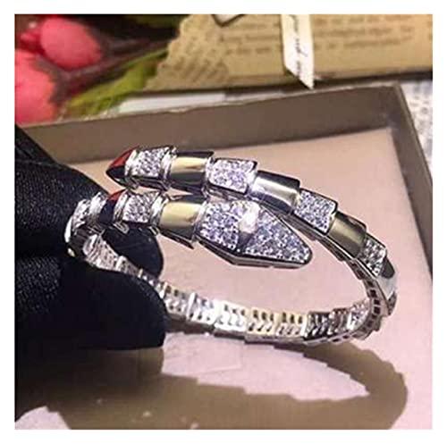 LIYDENG Oro de Rosa con Pulsera de zircón de Diamante Abierto de Damas Pulsera Elegante y Exquisita joyería I Pulsera (Color : G)