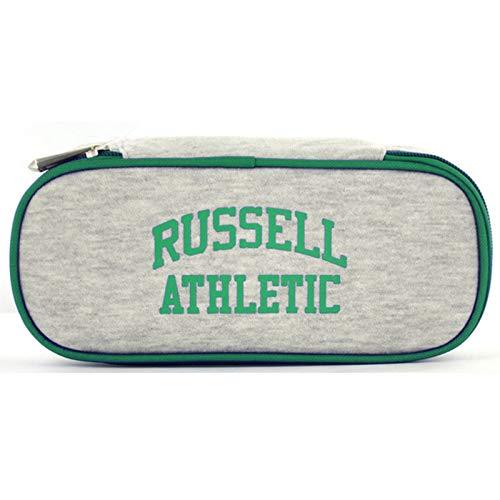 Portalápices A5-393-2 Russell Athletics afelpado, gris/verde. (Gris) - 0A53932