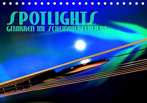 SPOTLIGHTS - Gitarren im Scheinwerferlicht (Tischkalender 2020 DIN A5 quer): Surreale Reflexionen des Bühnenlichts (Monatskalender, 14 Seiten ) (CALVENDO Kunst)