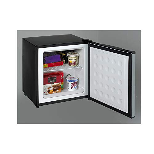 Avanti VFR14PS-IS Reversible Door Dual Function One Shelf Mini Refrigerator or Freezer with Rounded Recessed Handle, Black