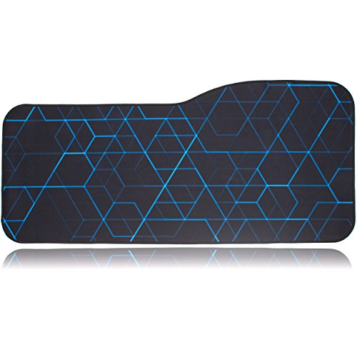 BRILA Extended Mouse pad - Curve Design Gaming Mouse pad - Stitched Edges & Skid Proof Rubber Base - 29' x 13.8' x 0.12' X-Large Mouse Keyboard Desk Mat for Computer Laptop (Geometrical Lines)