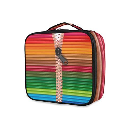 Trousse de toilette Voyage Art Rainbow Pencil Zipper Makeup Bag Storage Tools Cosmetic Train Case Portable Organizer