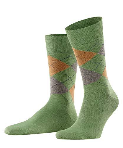 Burlington Herren Socken Manchester, Baumwolle, 1 Paar, Grün (Olive 7751), 40-46 (UK 6.5-11 Ι US 7.5-12)