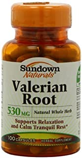 Sundown Naturals Valerian Root Whole Herb 530 mg, 100 Capsules (Pack of 3) by Sundown Naturals