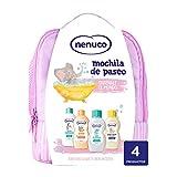 Nenuco Pack Bebé Mochila de Paseo color rosa, contiene colonia, jabón, champú y leche hidratante,...